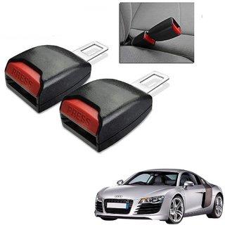 Auto Addict Car Seat Belt Extender Buckle Black Color Set of 2 Pcs For Audi R8