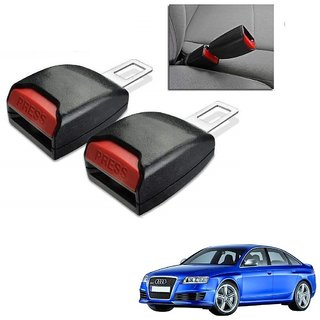 Auto Addict Car Seat Belt Extender Buckle Black Color Set of 2 Pcs For Audi RS 6