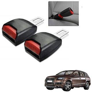 Auto Addict Car Seat Belt Extender Buckle Black Color Set of 2 Pcs For Audi Q7