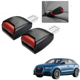 Auto Addict Car Seat Belt Extender Buckle Black Color Set of 2 Pcs For Audi Q3