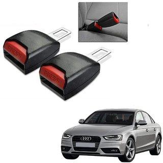 Auto Addict Car Seat Belt Extender Buckle Black Color Set of 2 Pcs For Audi A4