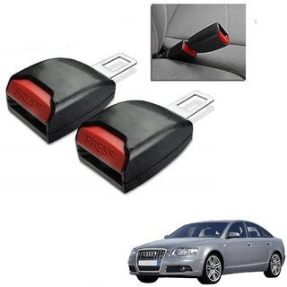 Auto Addict Car Seat Belt Extender Buckle Black Color Set of 2 Pcs For Audi A6