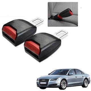 Auto Addict Car Seat Belt Extender Buckle Black Color Set of 2 Pcs For Audi A8
