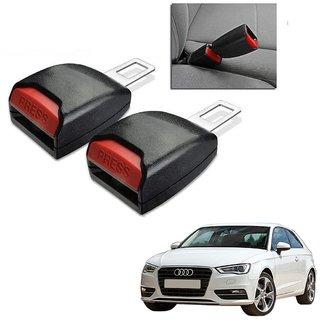Auto Addict Car Seat Belt Extender Buckle Black Color Set of 2 Pcs For Audi A3