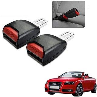 Auto Addict Car Seat Belt Extender Buckle Black Color Set of 2 Pcs For Audi A3 Cabriolet