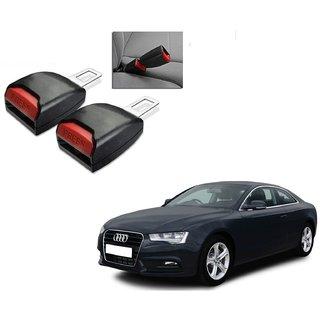 Auto Addict Car Seat Belt Extender Buckle Black Color Set of 2 Pcs For Audi A5