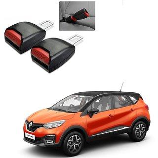 Auto Addict Car Seat Belt Extender Buckle Black Color Set of 2 Pcs For Renault Captur