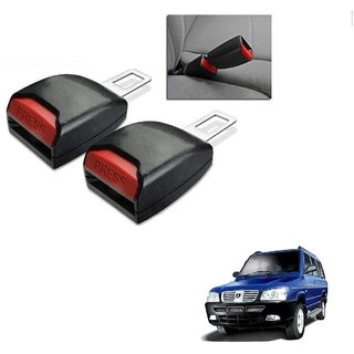 Auto Addict Car Seat Belt Extender Buckle Black Color Set of 2 Pcs For ICML Rhino