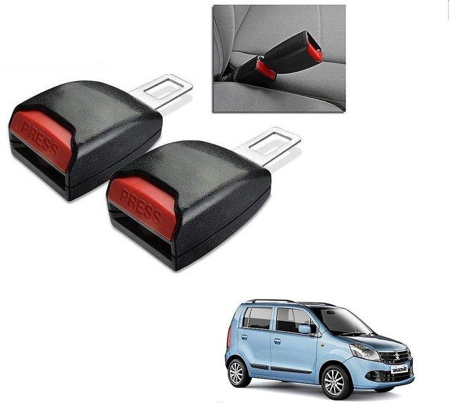 Auto Addict Car Seat Belt Extender Buckle Black Color Set of 2 Pcs For  Maruti Suzuki WagonR
