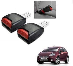 Auto Addict Car Seat Belt Extender Buckle Black Color Set of 2 Pcs For Fiat Punto