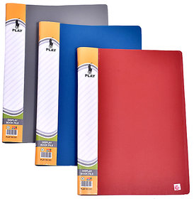 MB DISPLAY BOOK  10 POCKET A4 SIZE (PAPER CERTIFICATE FILE) CLEAR BOOK PACK OF  10 PCS
