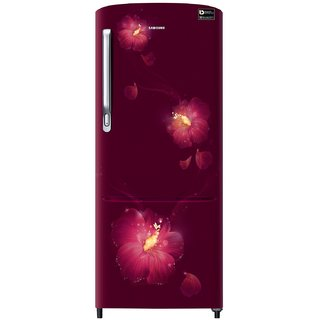Samsung 230 L 3 Star Direct Cool Single Door Refrigerator RR24M275ZR3/NL, Rose Mallow Plum, Inverter Compressor