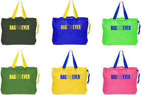 Bagforever Pack Of 6 Multiutility Shopping Bag