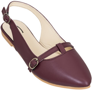 Gibelle Women's Casual Maroon Mules
