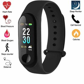 VASA(R-TM) M3 Waterproof Smart Fitness Band Activity Tracker, Touch Screen,Time, Date, Heart Rate Monitor, Calories, Mil