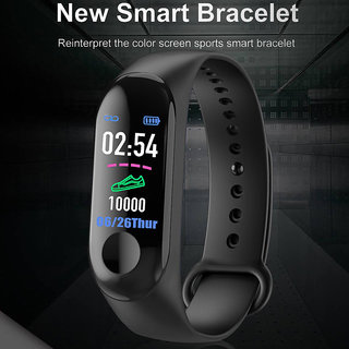 Tech Gear Sports Watch M3 Smart Band Waterproof Heart Rate Monitor Fitness Tracker M3 Band Bracelet Wristband