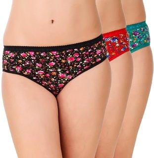 Minha Fashion Women's Panties Cotton Multicolor pack of 3