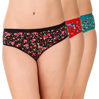Minha Fashion Women's Panties Cotton Multicolor pack of 3