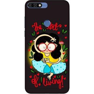 Digimate Printed Designer Soft Silicone TPU Mobile Back Case Cover For Huawei Honor 7A / Honor 7A Design No. 0904