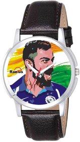 Virat Kohli Genuine Leather Strap Wrist Watch For Mens  Boys RD-3036