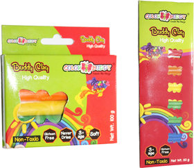 EDEAL Clay Combo of Stick and roll of 6 Colours for Kids/Teens-Non Toxic