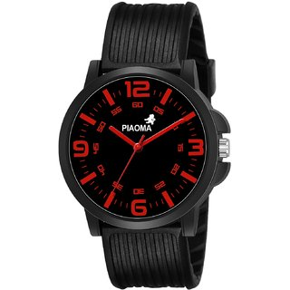 Piaoma Analogue Black Dial Day and Date Men's Boy's Watch - P011