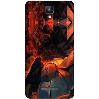 Digimate Printed Designer Soft Silicone TPU Mobile Back Case Cover For Intex Aqua Lions 2 Design No. 0598