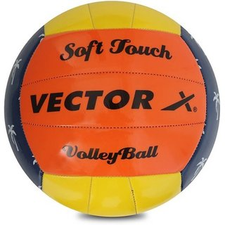 Vector X SOFT-TOUCH Volleyball - Size 4 (Pack of 1 Multicolor)