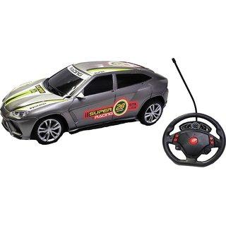 Emob Furious 4 Super Racing Gravity Sensor Rechargeable Remote Control Car Toy   Silver