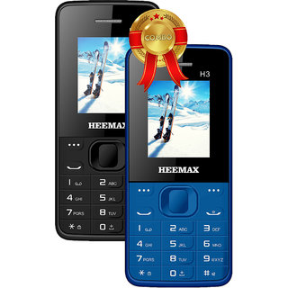 HEEMAX H3 COMBO (Dual Sim, 1.8 Inch Display, 1000 Mah Battery,  1 YEAR WARRANTY, Made In India )BLACK AND BLUE