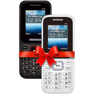 HEEMAX P310COMBO (Dual Sim, 1.8 Inch Display, 1000 Mah Battery,  1 YEAR WARRANTY, Made In India )BLACK AND WHITE DARKBLUE