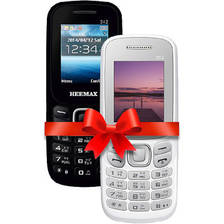 HEEMAX P312 COMBO (Dual Sim, 1.8 Inch Display, 1000 Mah Battery,  1 YEAR WARRANTY, Made In India )BLACK AND WHITE