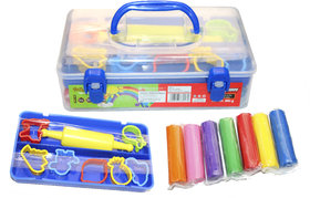 EDEAL Clay Box with 7 Diffrent Colours and Small Roller 7 Cutter Moulds for Kids/Teens-Non Toxic
