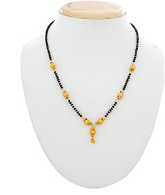 Luxor Gold Plated Black  Gold Alloy Only Mangalsutra for Women