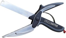 Pin to Pen 3 in 1 Clever Cutter Black, Steel Kitchen Tool Set (Clever Cutter)