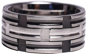 Sanaa Creations Hnadmade Desigen crafted 100 Stainless Steel Sterling Silver Plated Forever Love Limited Edition Bling Band Trendy and Fashionable Ring
