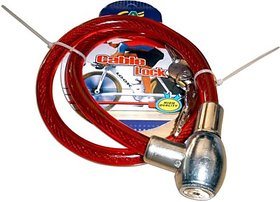 Iron Cable Lock For Helmet Goti Multicolor For Bike Helmet Lock And Bicycles Lock