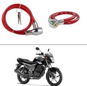 KunjZone  Heavy Duty Multi Purpose Goti/Key Helmet Lock (Red) (Pack of 1) for Yamaha SZ-S