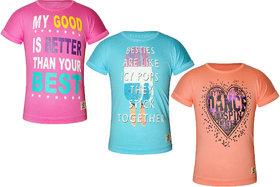 Kothari girls cotton muti color combo short sleeves round neck printed Top