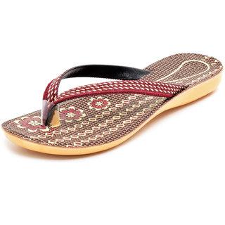 Gymsym women flat sandal(11000 dot niwar cherry)