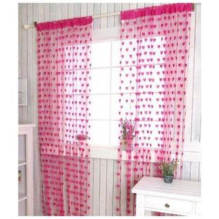 Angel Home Set of 2 Heart Curtain For Door (hrt 3)