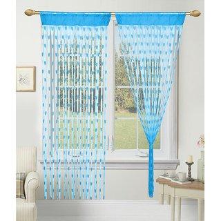 Shiv Kirpa Polyester Heart Curtain Set Of 2