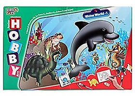 Virgo Toys Hobby Arts Senior Water World Stencil Art and Craft kit with glitter colors