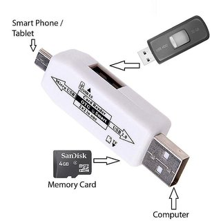 OTG Smart / Micro USB OTG Smart Connection Kit / Attach To Pendrive Mouse Keyboard Card Reader-COLOUR MAY VARY