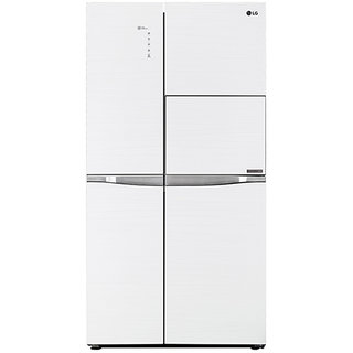 LG 675 litres Side by Side Refrigerator, Aria White GC C247UGUV