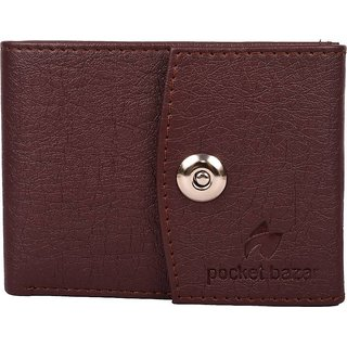 3 Bro Magnet Brown Formal Wallet For Mens Stylish Wallet (Synthetic leather/Rexine)