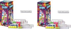 Virgo Toys Brain Drain Puzzle - (Pack of 2)