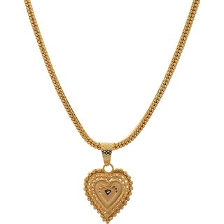 Jewar Mandi Chain 24 inch Gold Plated with Brass & Copper , Gold Foil Gold Locket Jewelry for Women Girls