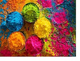 Scented Gulal Holi Color Powder Pack of 5