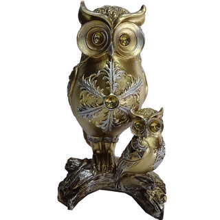 Boon Two Owl Showpiece (4.75x2.75x8 Inch)